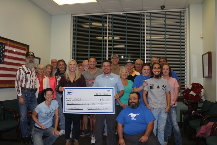 Nature Coast Mustangs $5,581 charity donation to Citrus County Abuse Shelter Association