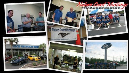 Nature Coast Mustangs Sponsored By Nick Nicholas Ford Inverness, FL Collage