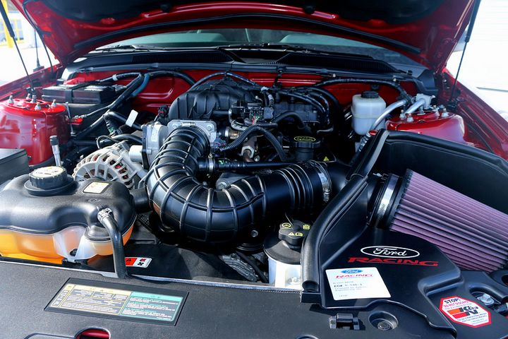 Change Air Filter >> Engine Bay of 2008 Mustang V6 Premium Pony Package with ...